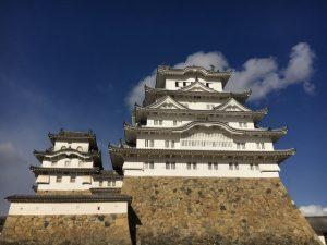 備前丸の広場から眺めた姫路城