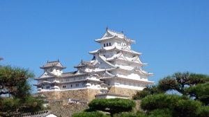 西の丸からの眺めた姫路城