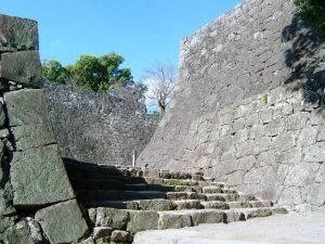 熊本城の石の階段