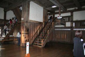 姫路城の階段