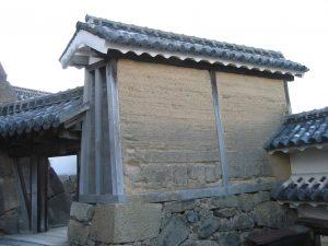 姫路城の油壁