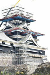 復興中の熊本城